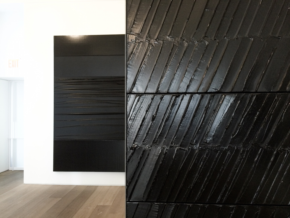 Pierre Soulages at Galerie Perrotin