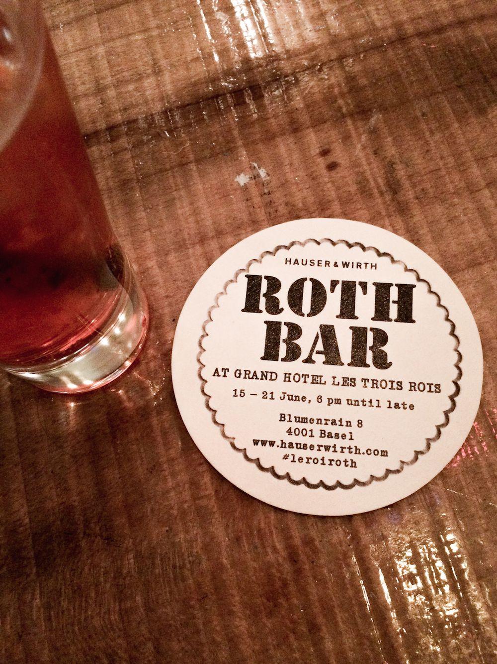 Art Basel Les Trois Rois Roth Bar