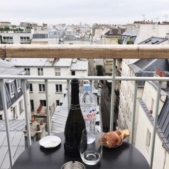 Balcony overlooking the Marais district