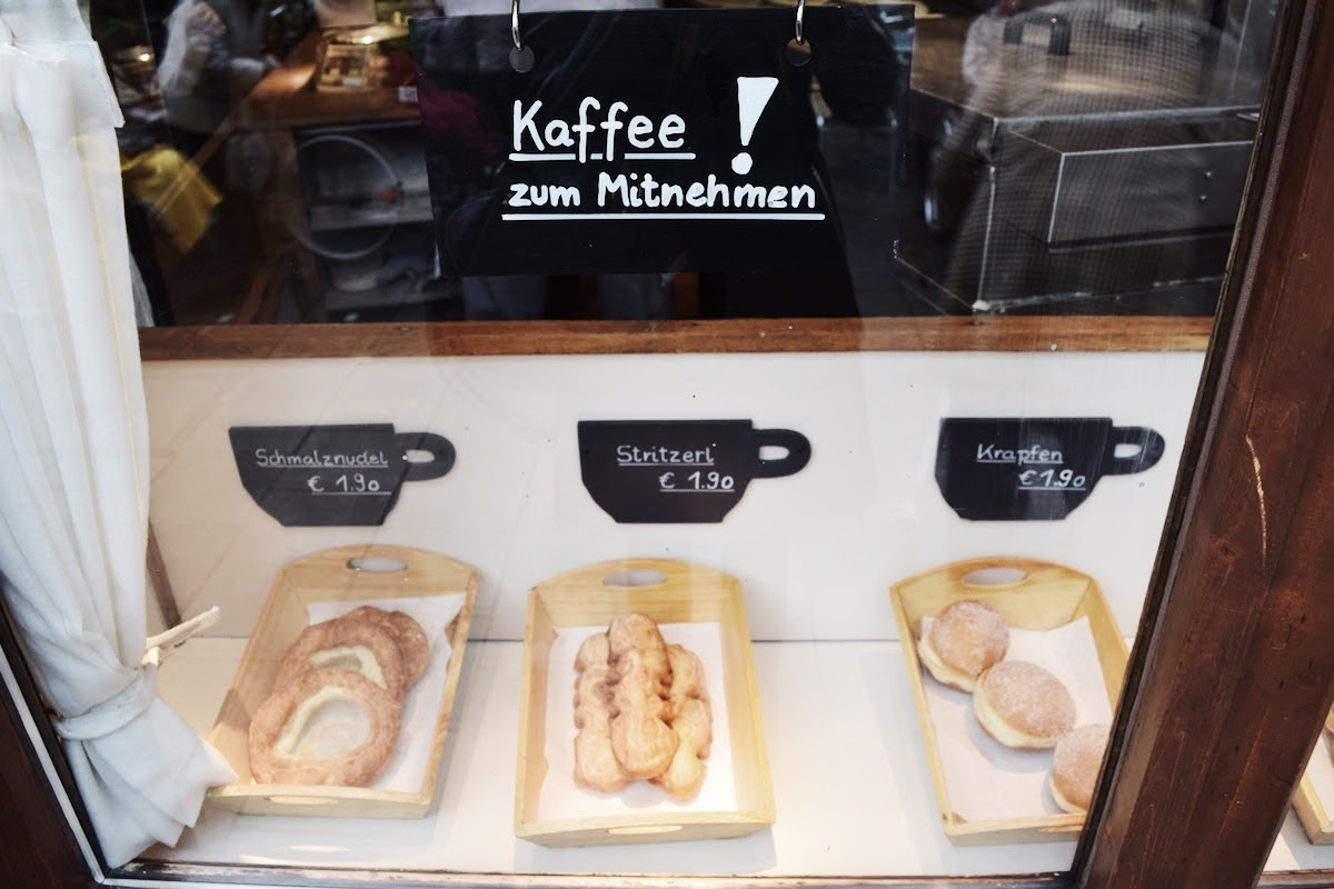 Cafe Frischhut Schmalznudel Bakery Window