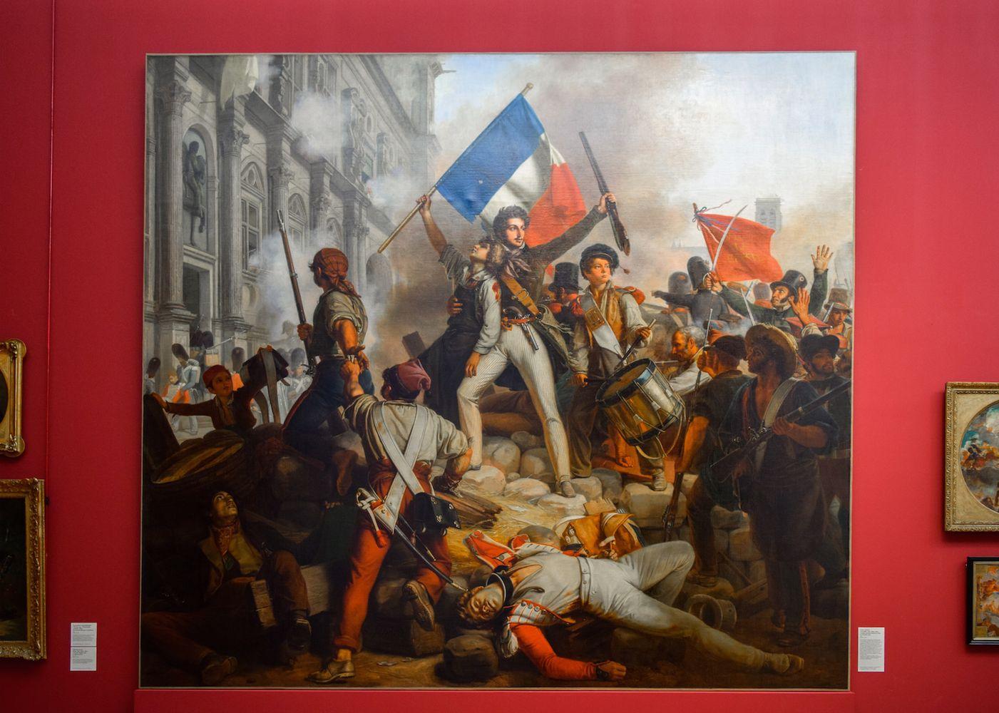 Victor Schnetz, Combat devant l'Hôtel de Ville, le 28 juillet 1830, 1833