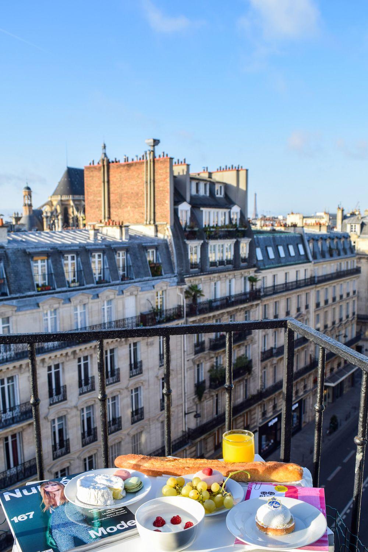 Breakfast on the Balcony in Paris