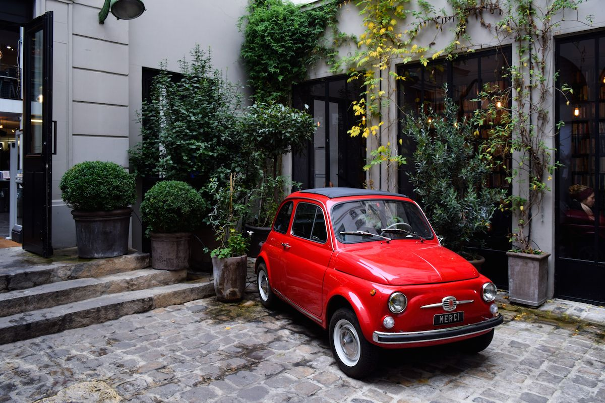 Red Fiat at Merci, Paris