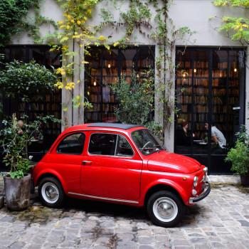 Red Fiat at Merci, Paris