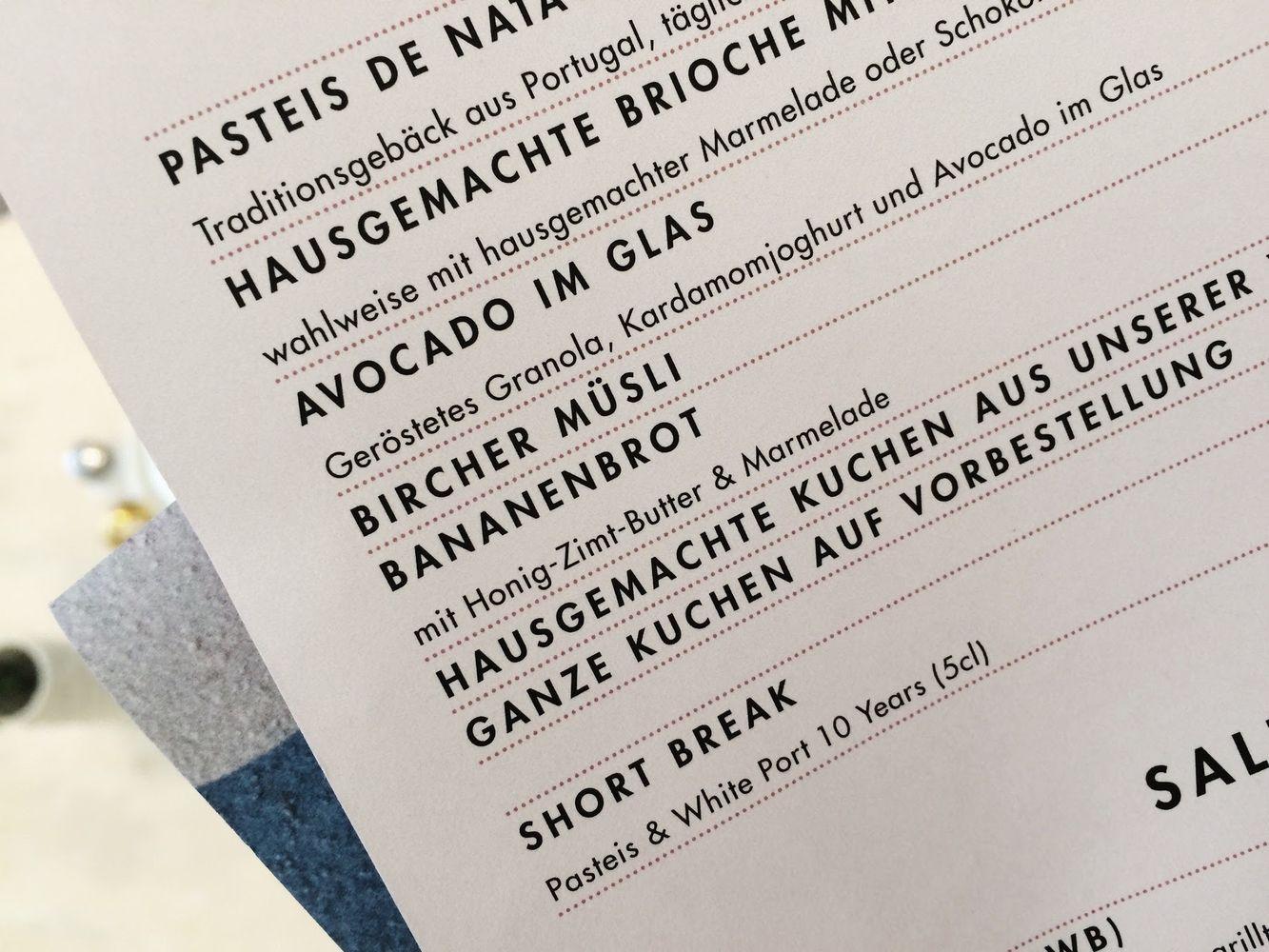 Stereo Cafe Munich Menu