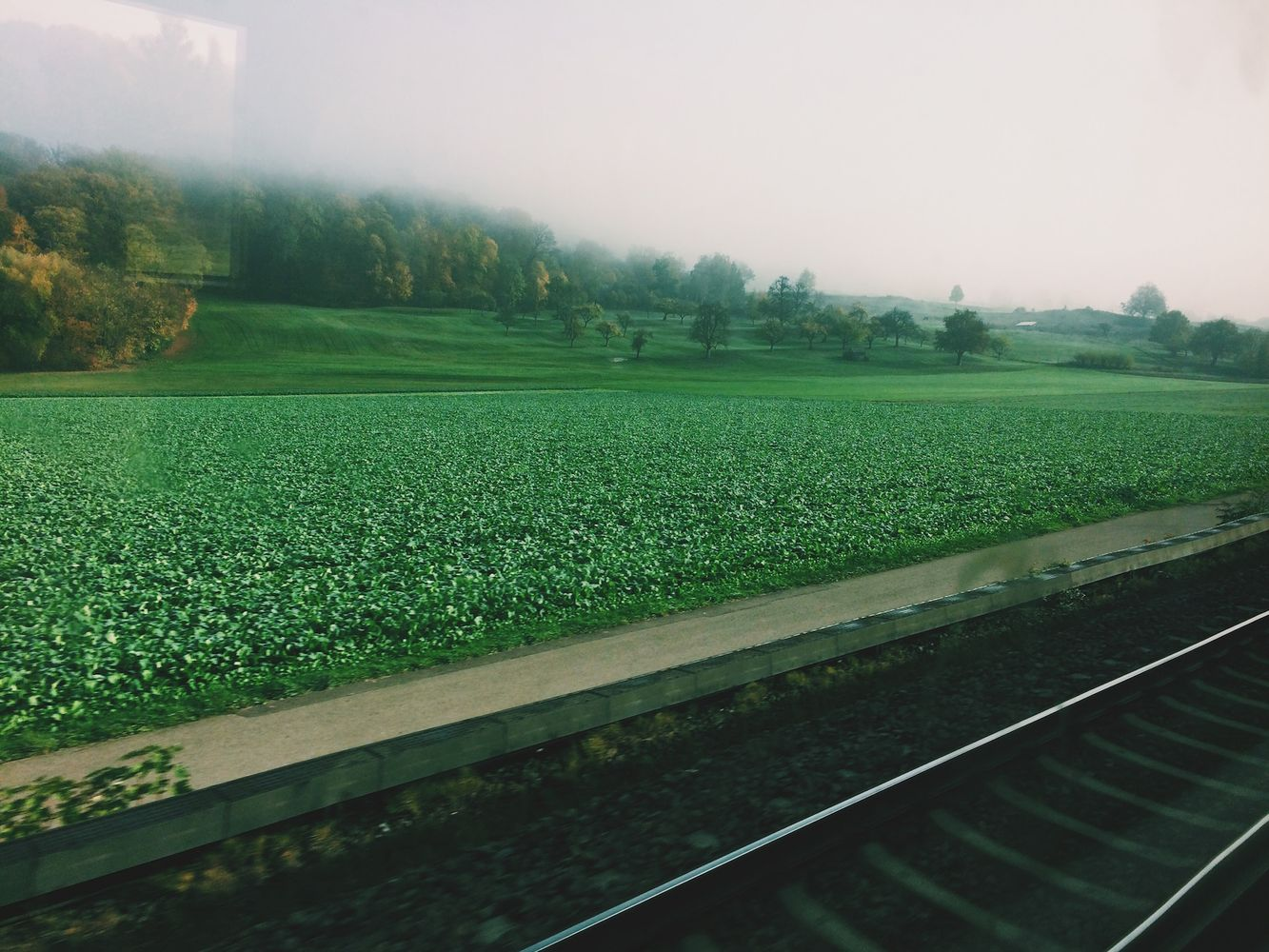 Train through Southern Germany to Ulm