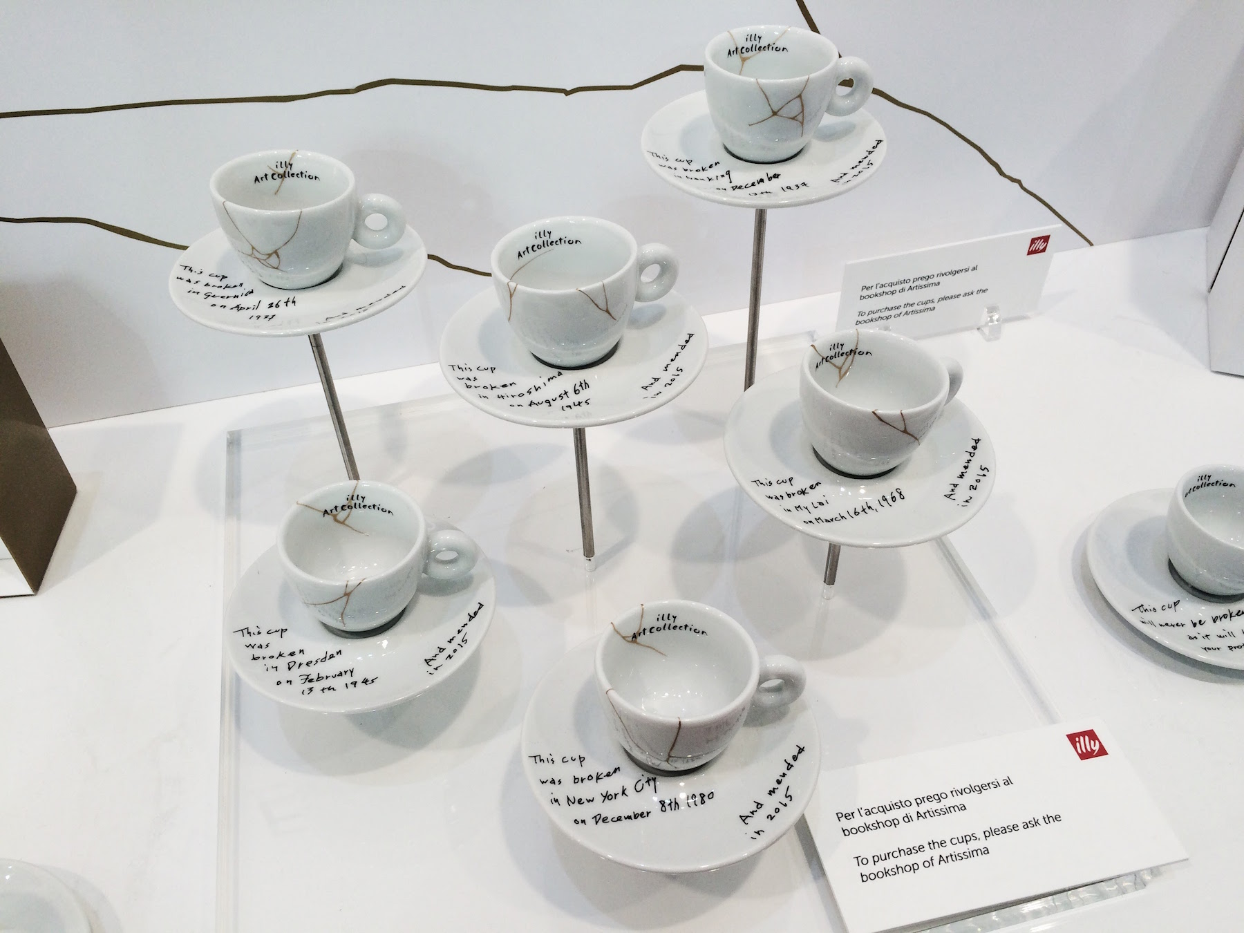 Illy Mended Cups by Yoko Ono