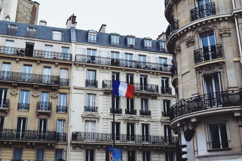 French Flag Waving on November 14, 2015