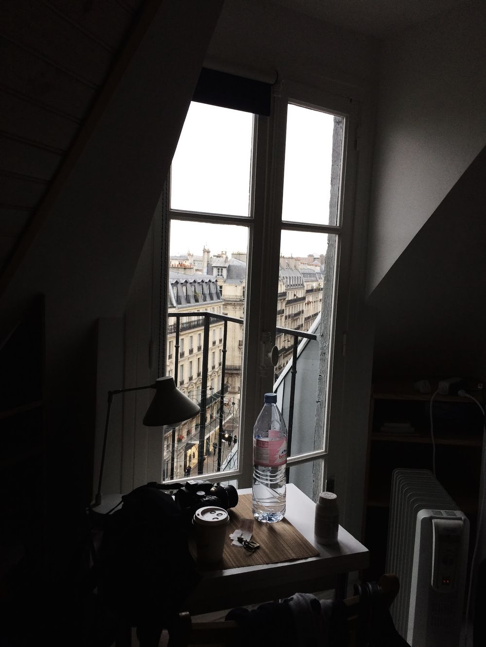 View from My Apartment Paris Desk