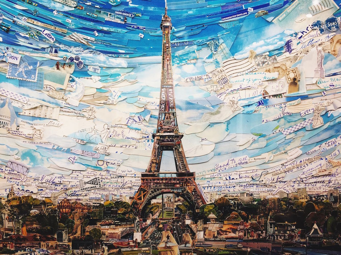 Vik Muniz, Eiffel Tower Postcards from Nowhere