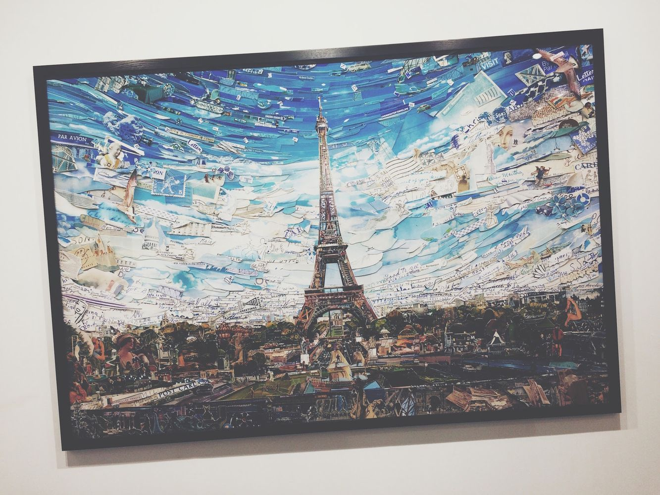 Vik Muniz Eiffel Tower Postcards from Nowhere