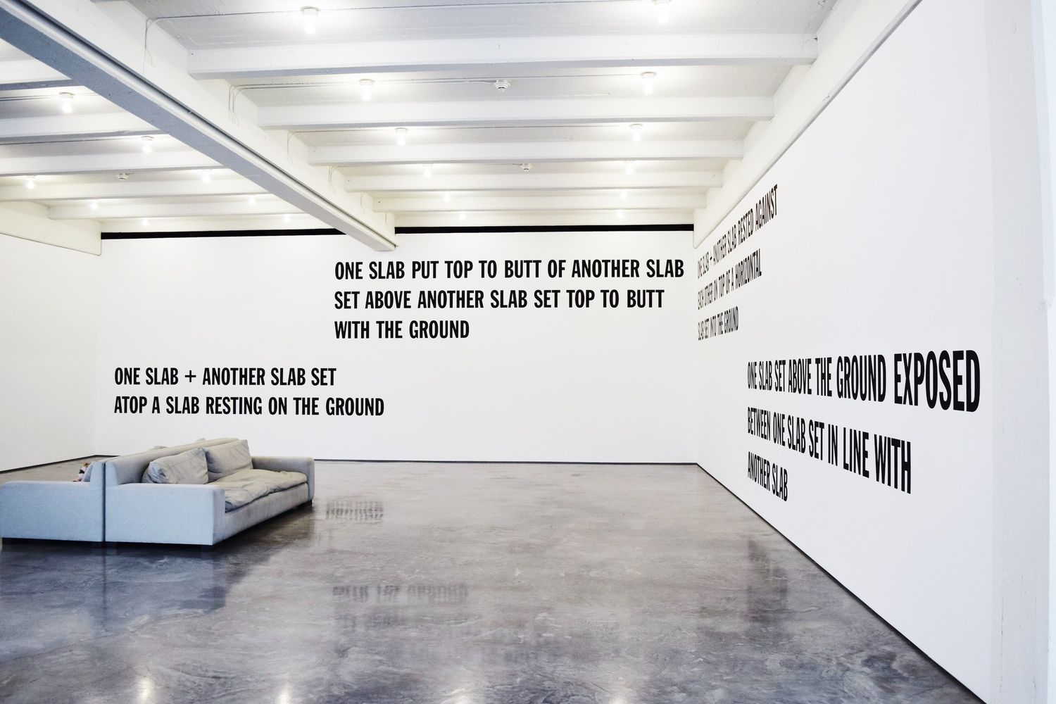 Lawrence Weiner, Dia Beacon