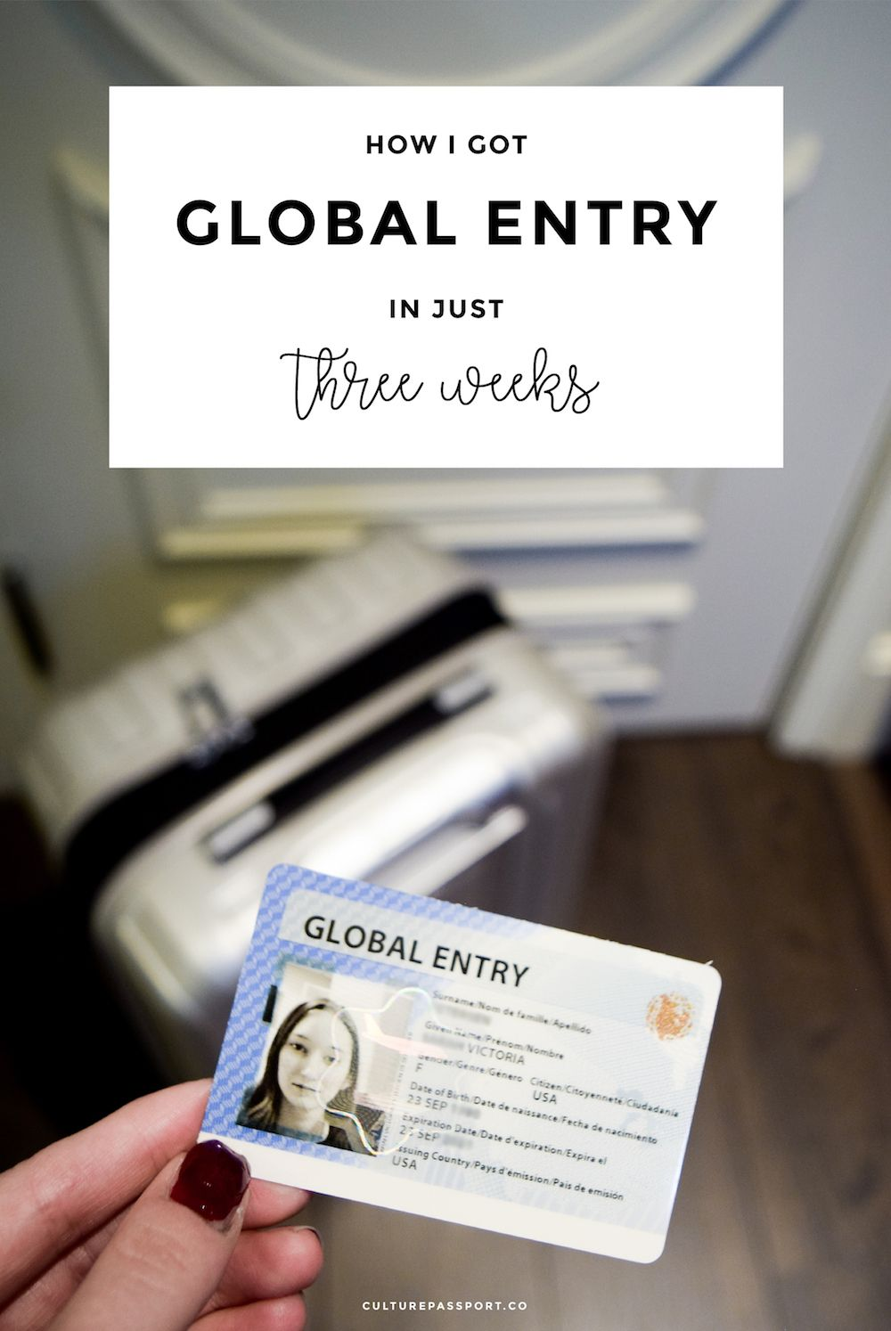 Get global entry quickly, get global entry fast, get global entry in a few weeks, Global Entry Application