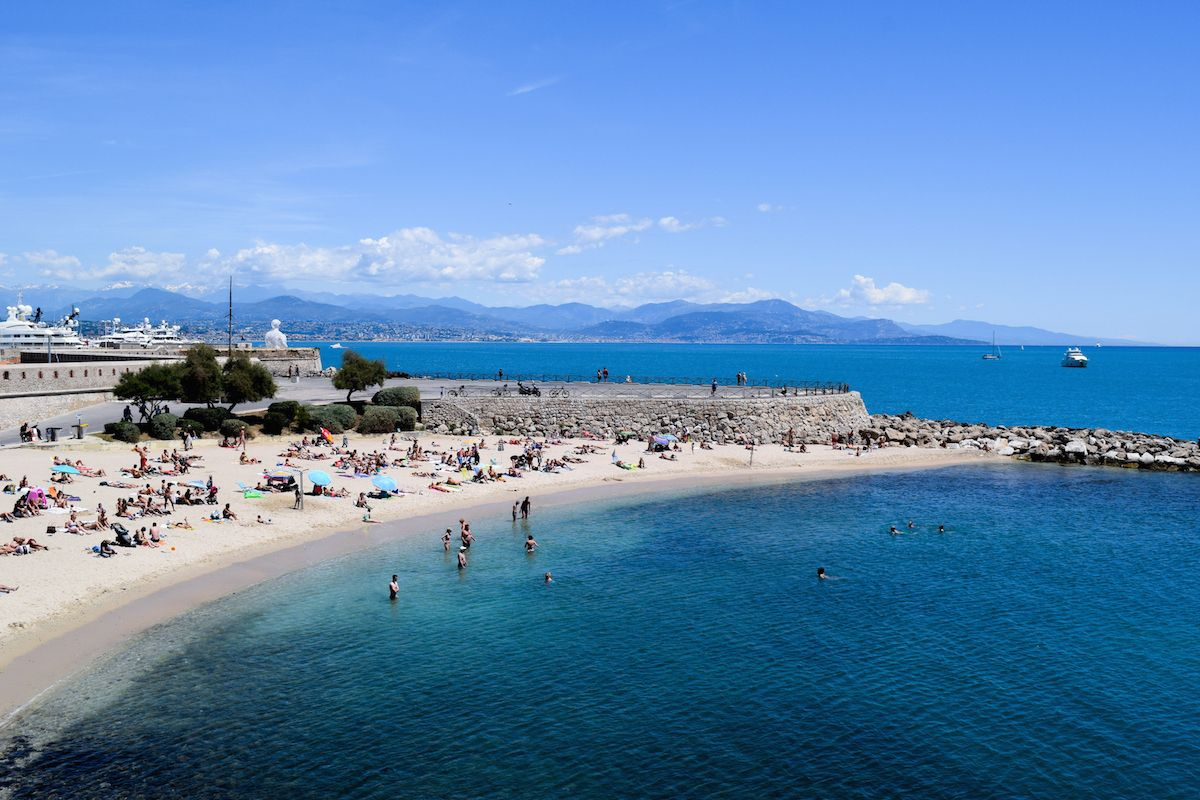 Antibes Plage de la Gravette, South of France Beaches