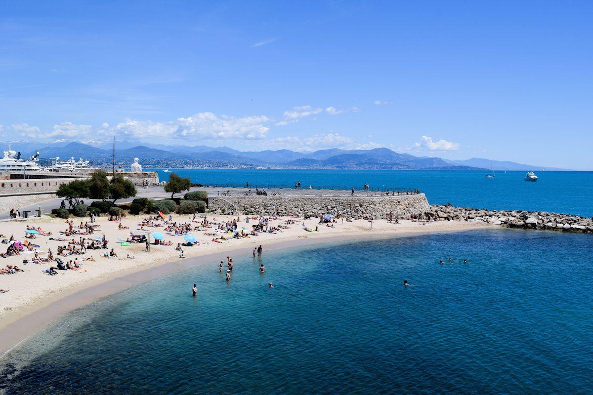 Antibes Plage de la Gravette, South of France Beaches