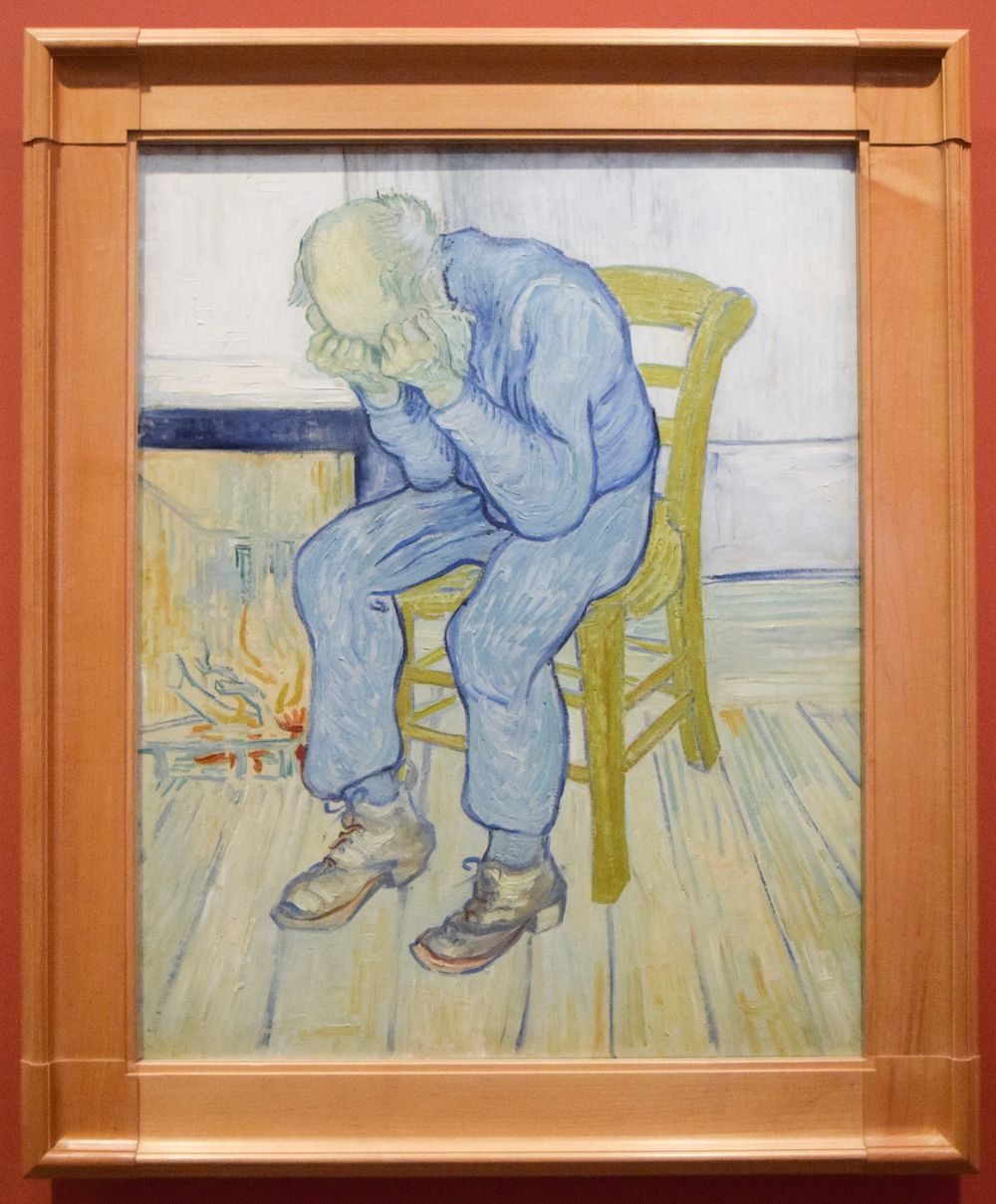 Fondation Vincent Van Gogh Arles - Vieillard pleurant (At Eternity's Gate) / Sorrowful Old Man