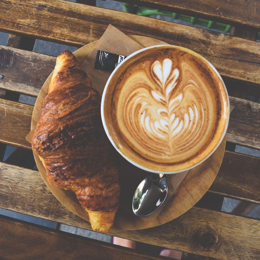 Coffee and Croissant at Dulce de Leche Valencia