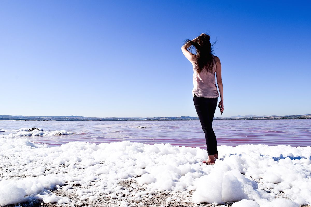 Travel to the Pink Salt Flat of Torrevieja