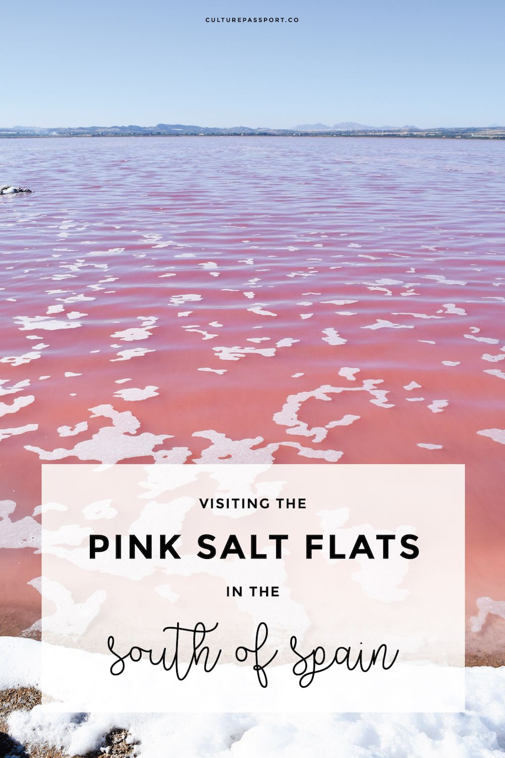 Pink Salt Flat Torrevieja, Southern Spain, Pink Lake, Pink Salt Flat Spain