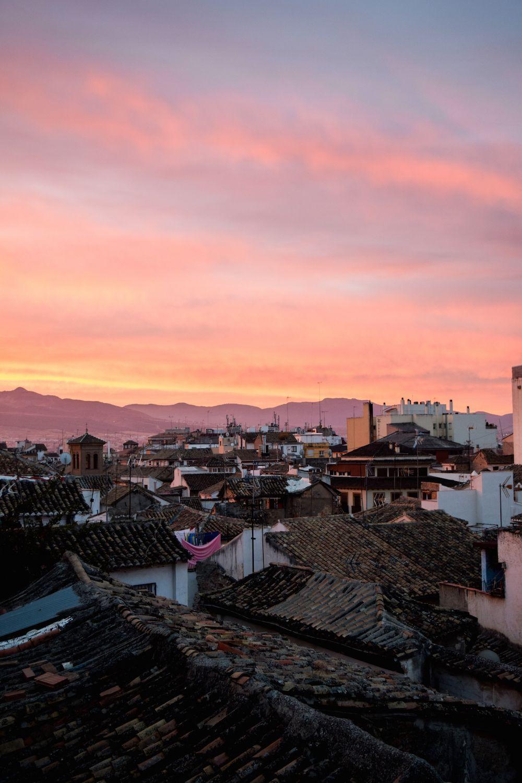 Sunrise from my apartment in Granada