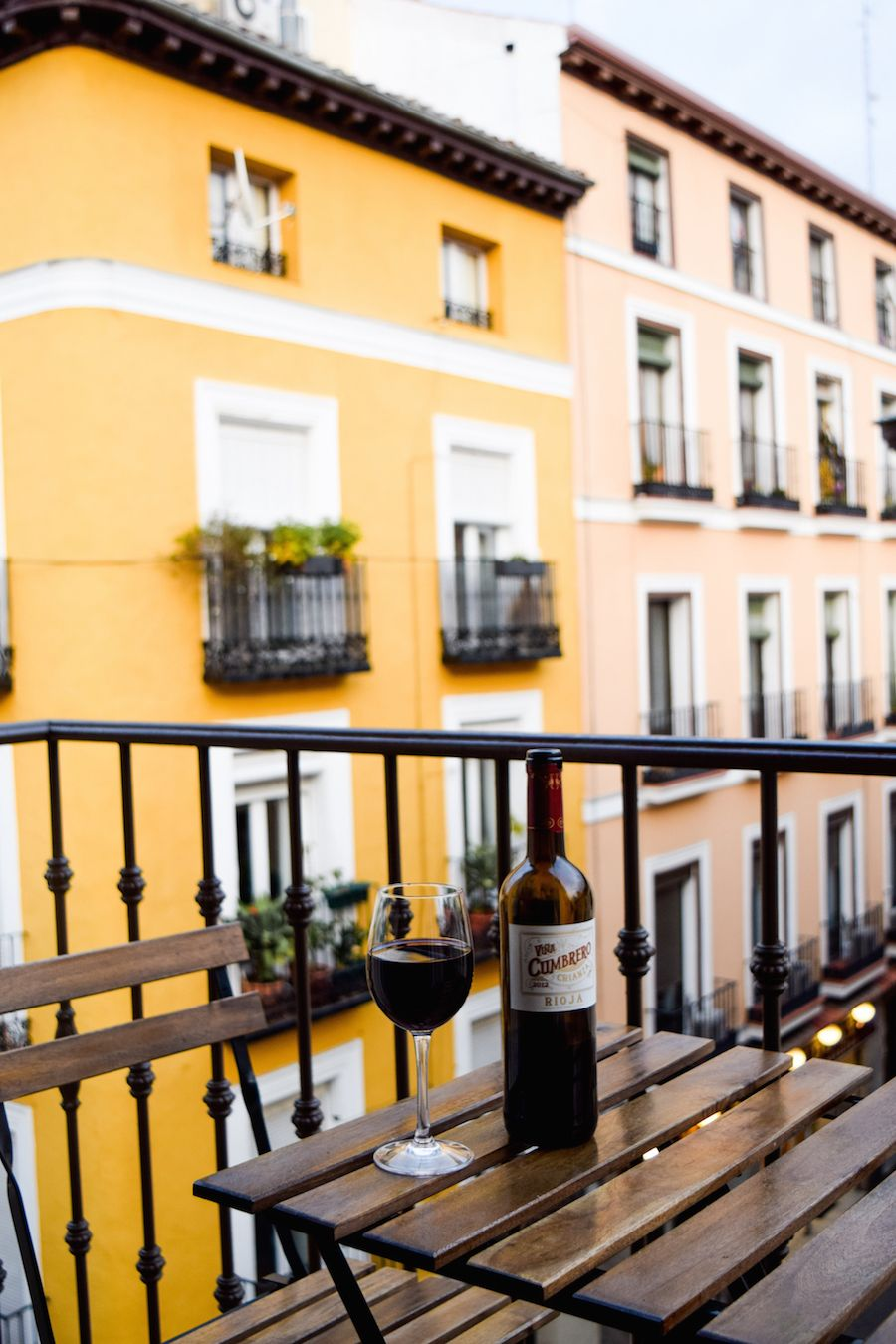 Wine on my Madrid balcony