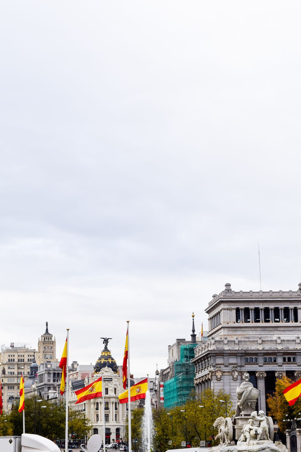 View of the Metropolis Building, Madrid