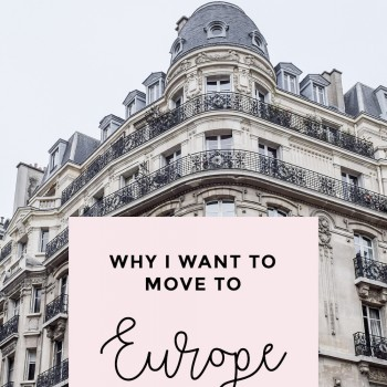 Dreaming of Living in Europe