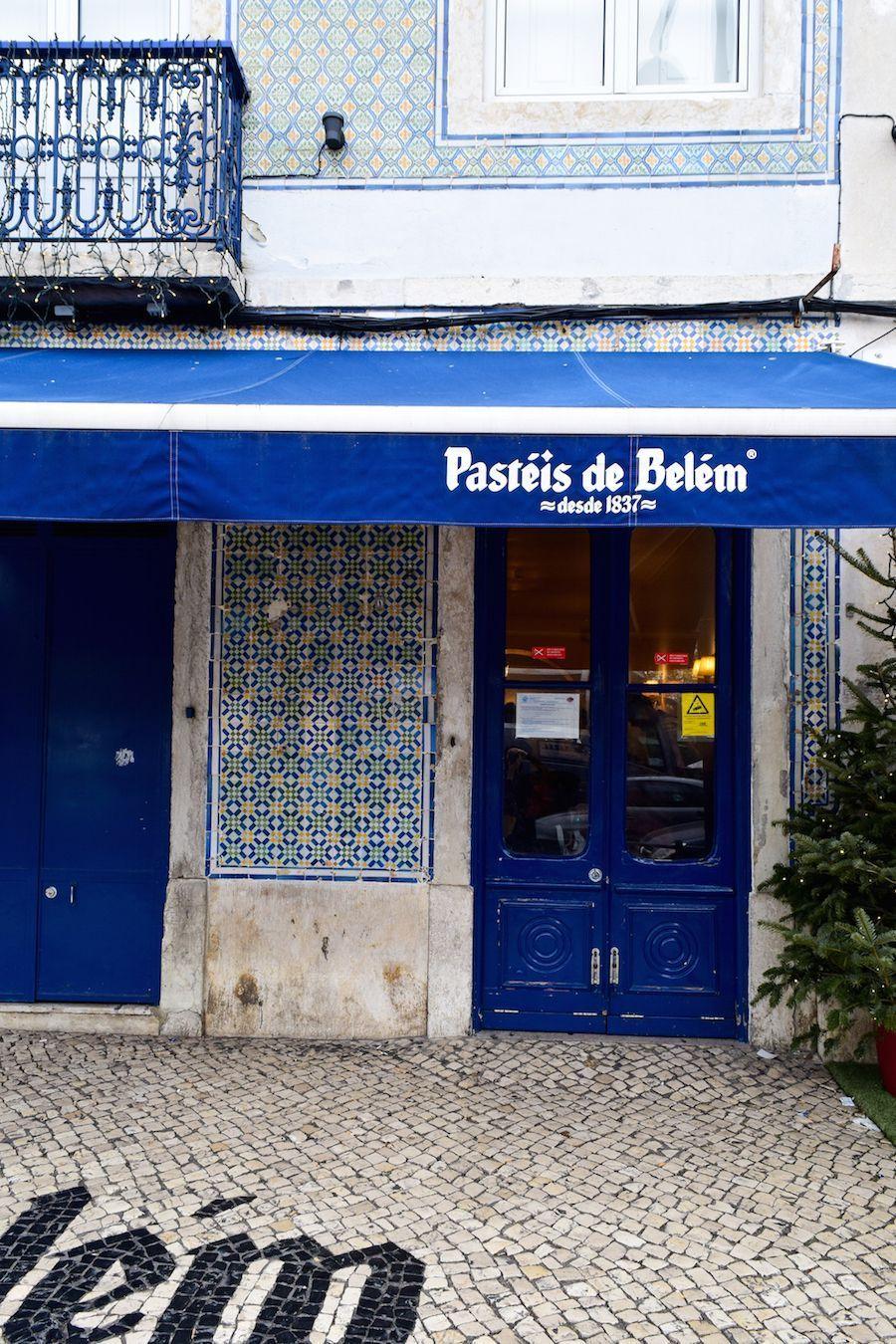 Pasteis de Belém Entrance, Lisbon, Portugal