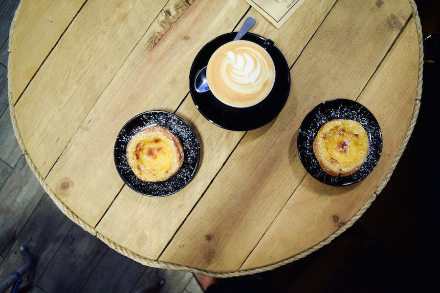 Pastel de Nata at an Artisanal Coffee Shop in Lisbon