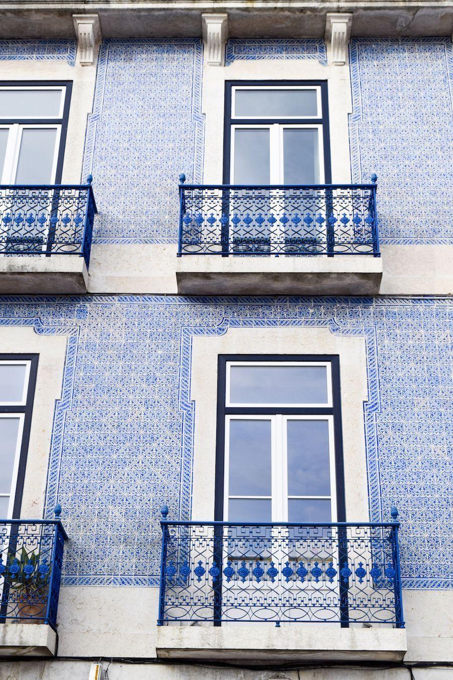 Blue Building East of Lisbon, Portugal