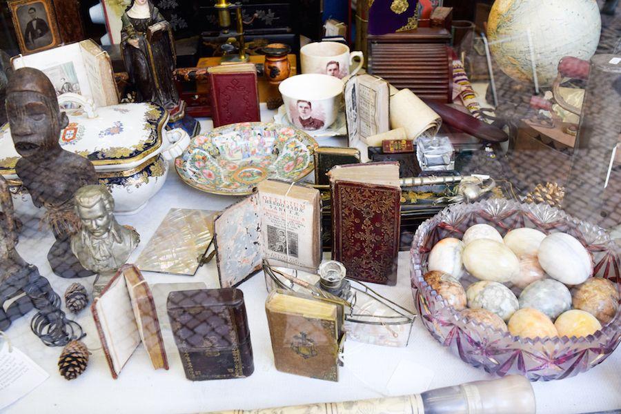 An old-timer's antique shop in central Lisbon, Portugal