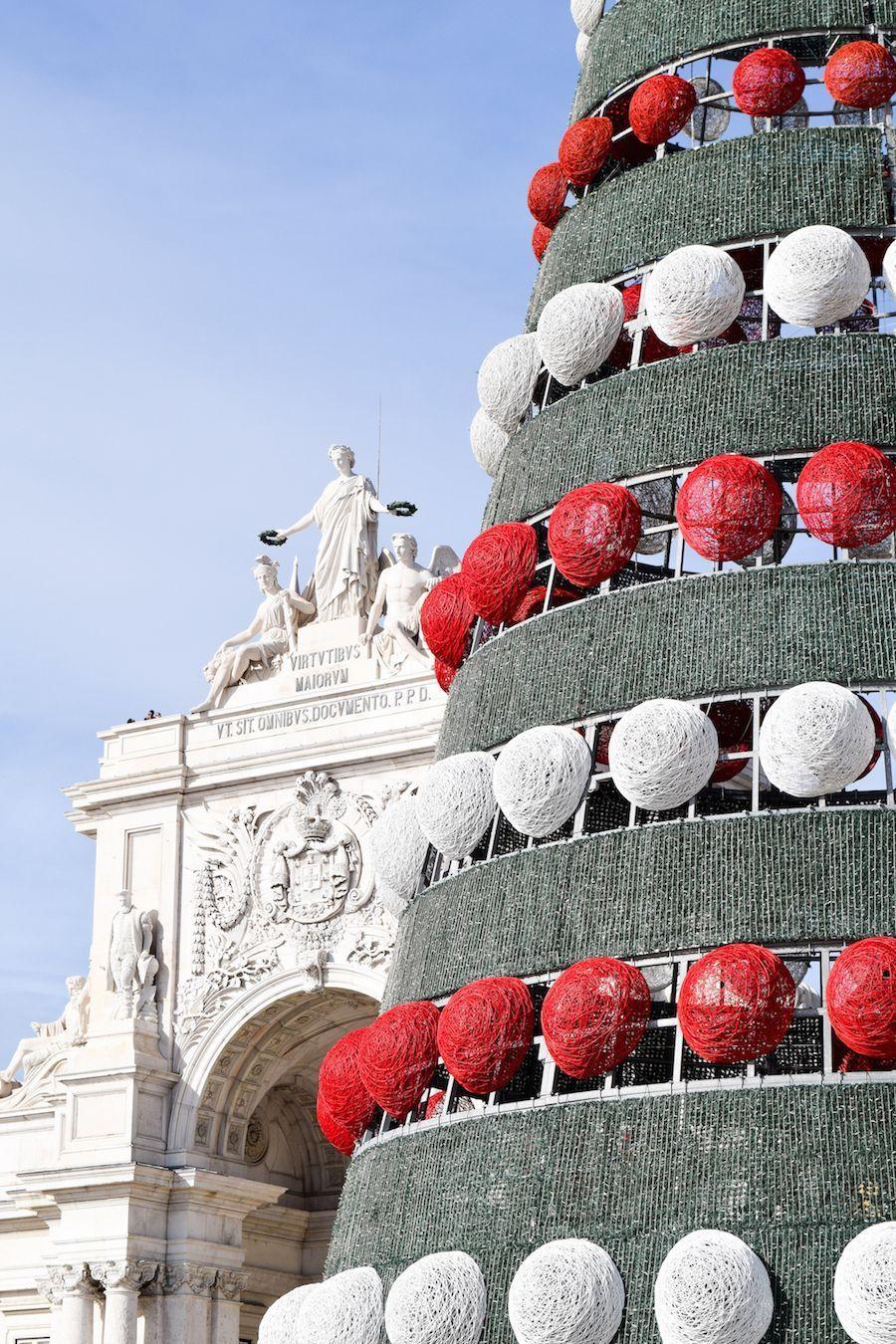 Praça do Comércio Christmas Tree Lisbon Portugal