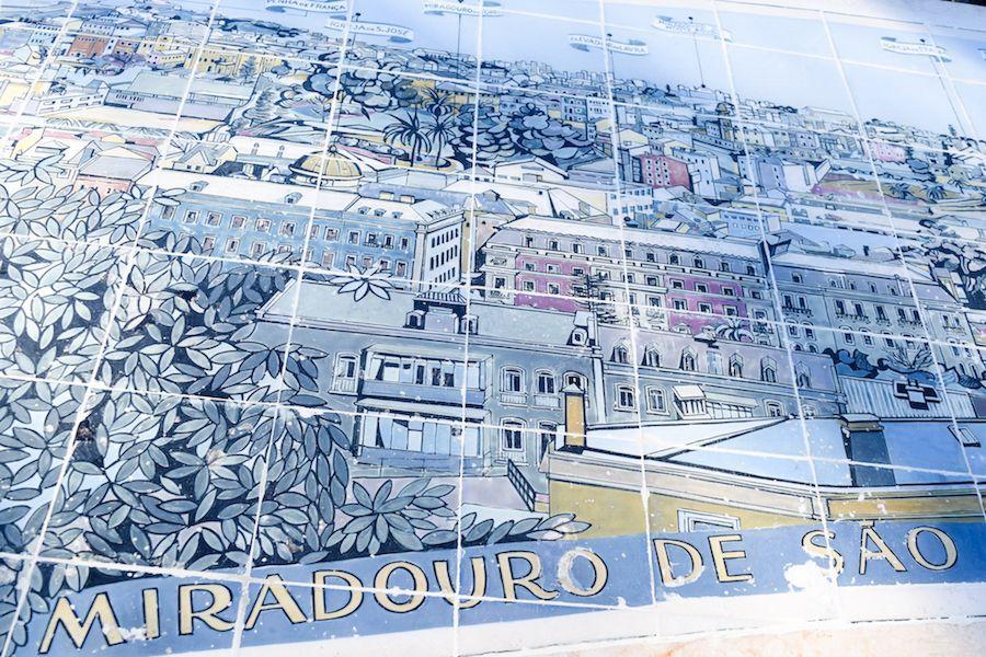 Miradouro de São Pedro de Alcântara Lisbon Portugal offering the best view of Lisbon and the Atlantic Ocean!