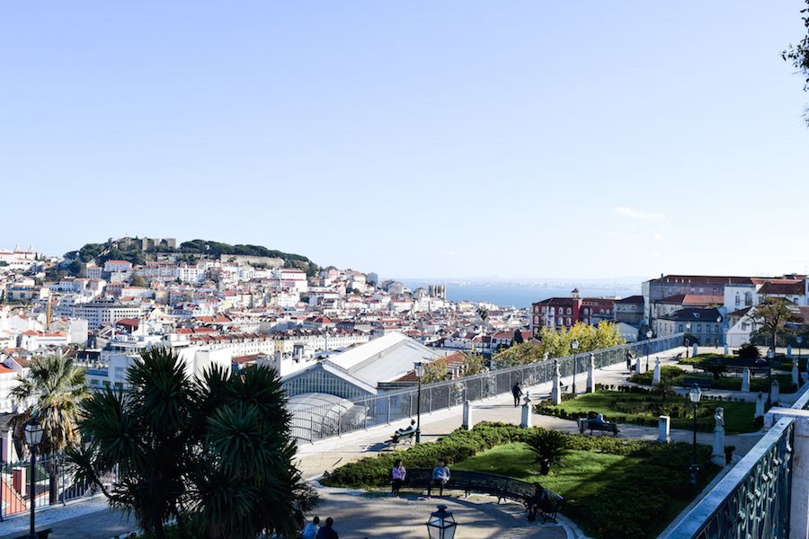 Miradouro de São Pedro de Alcântara Lisbon Portugal Views