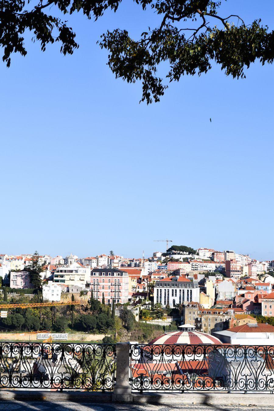 Miradouro de São Pedro de Alcântara, Lisbon Portugal Great View