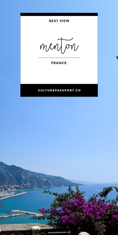 Best View in Menton France overlooking Mediterranean