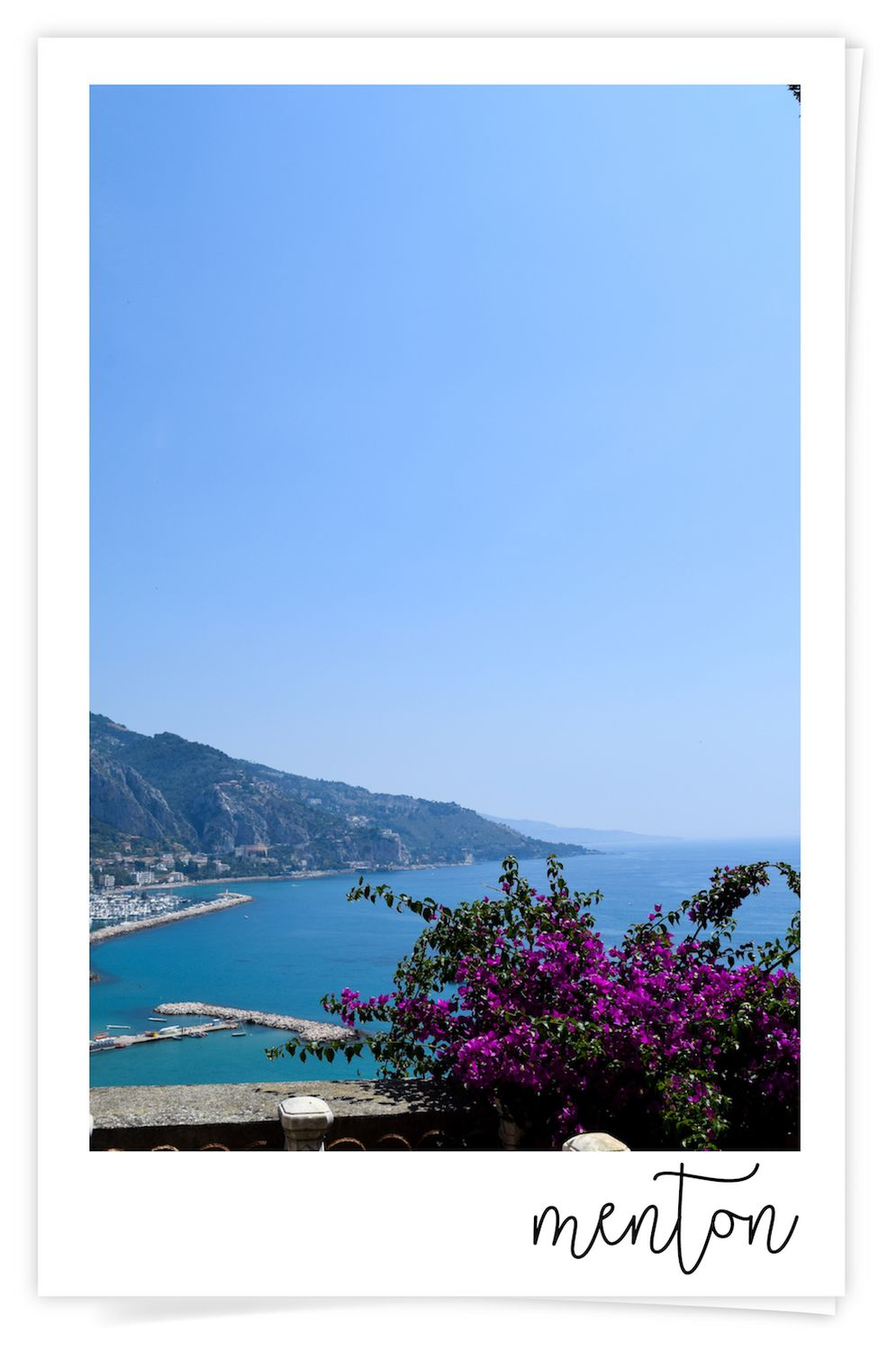 View of Menton, France
