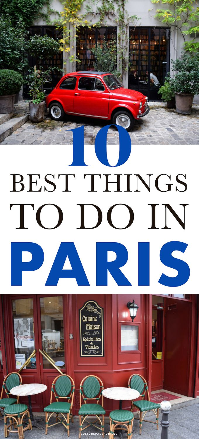 10 of the best things to do in Paris