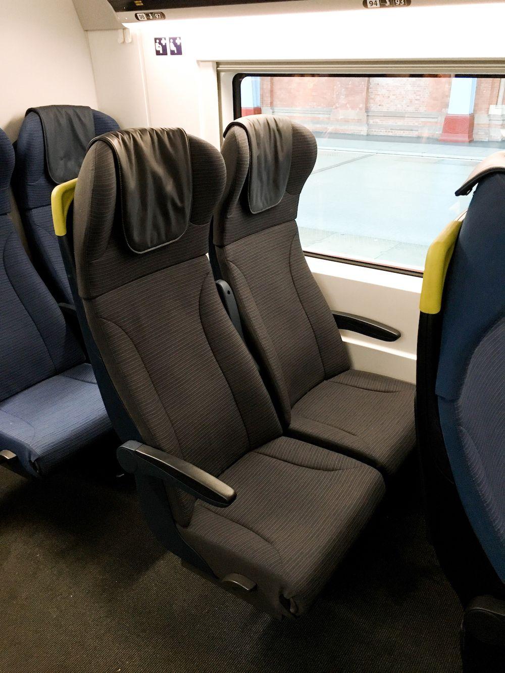 Eurostar 2nd Class Seats