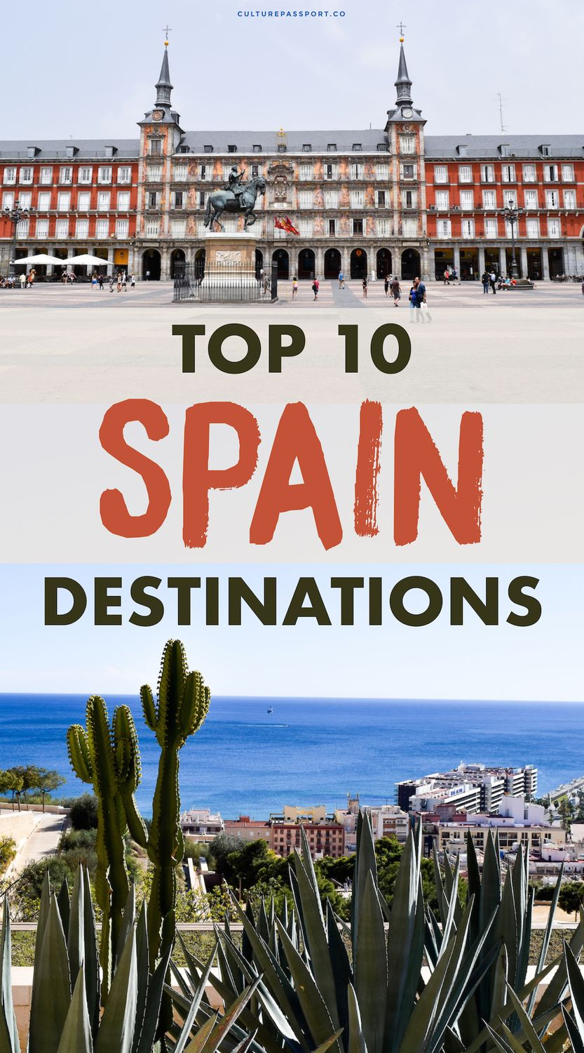 Top 10 Spain Destinations