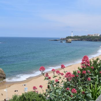 View of Grand Plage Biarritz