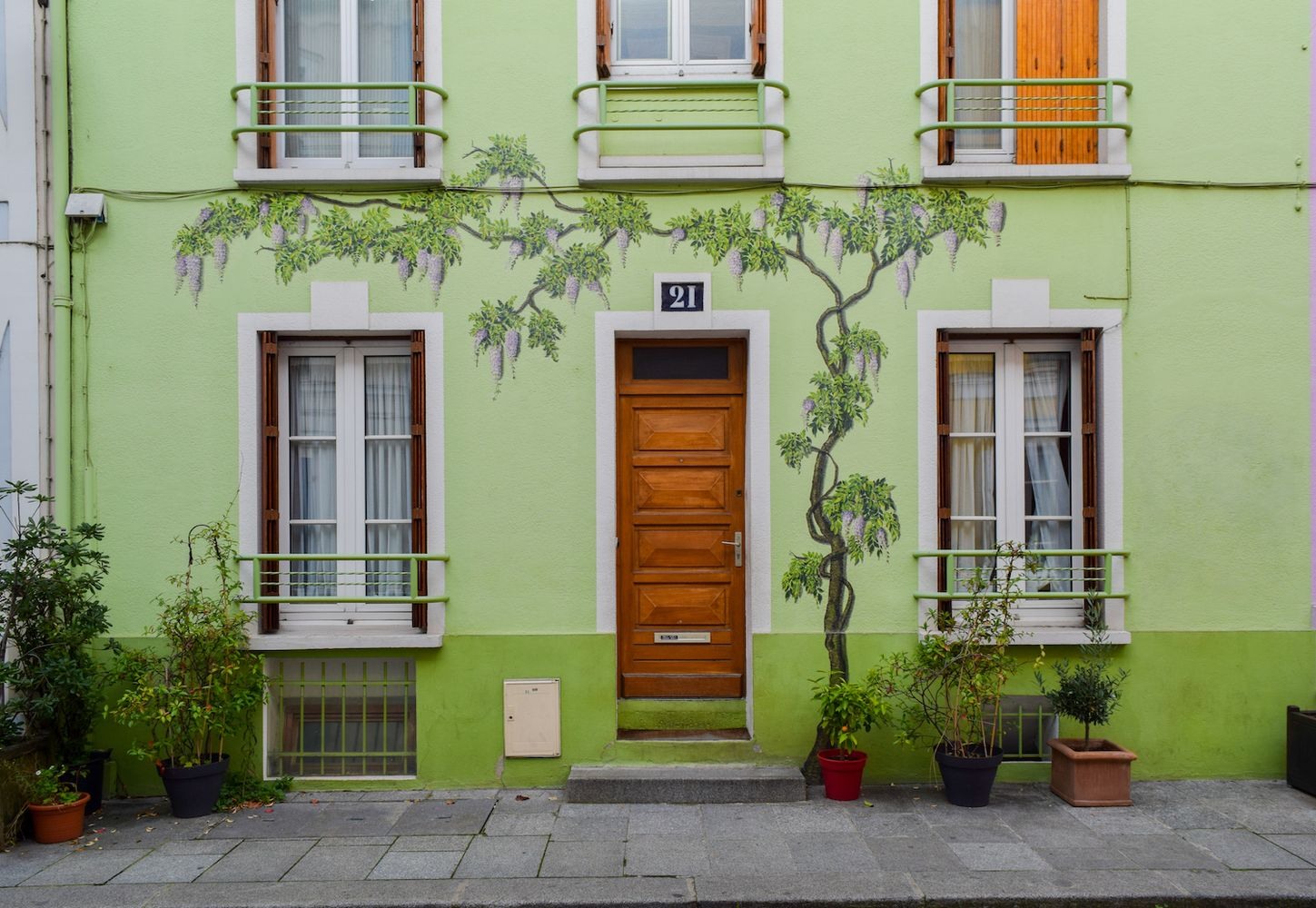 Green House on Rue Cremieux, Paris