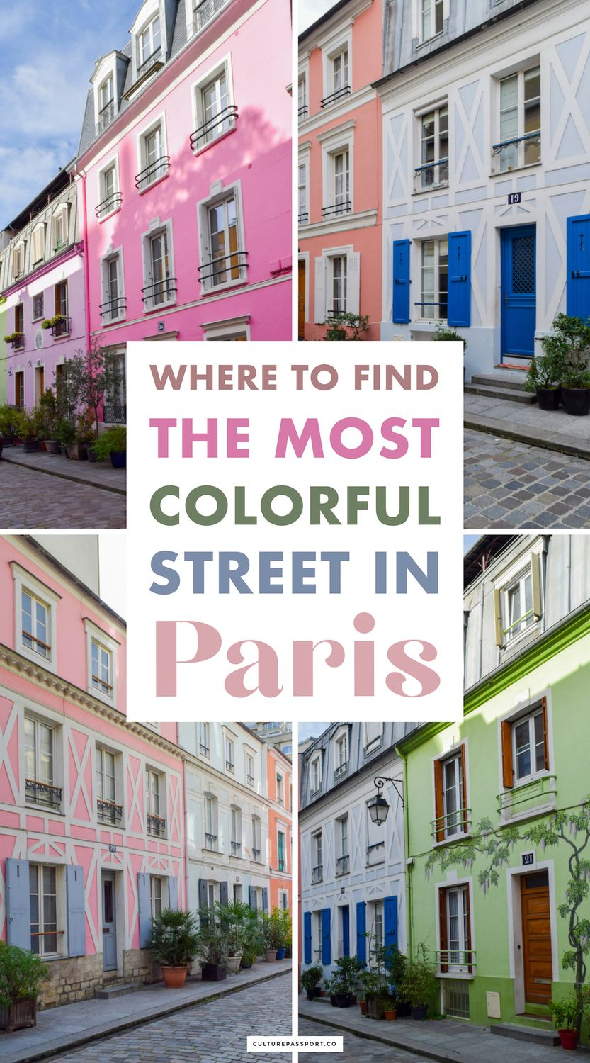 Where to Find the Most Colorful Street in Paris: Rue Crémieux