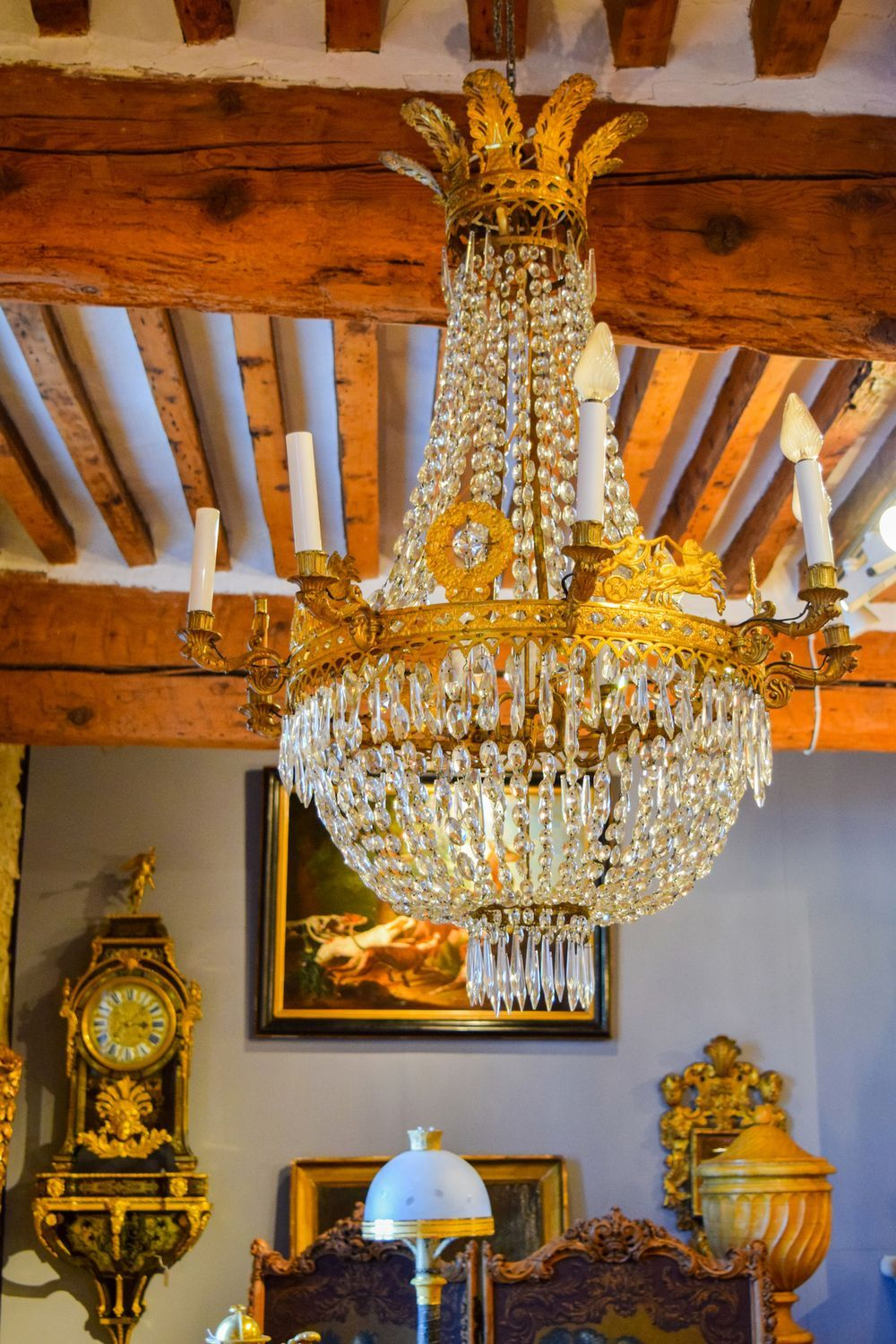 Antique French Chandelier In L'Isle Sur La Sorgue
