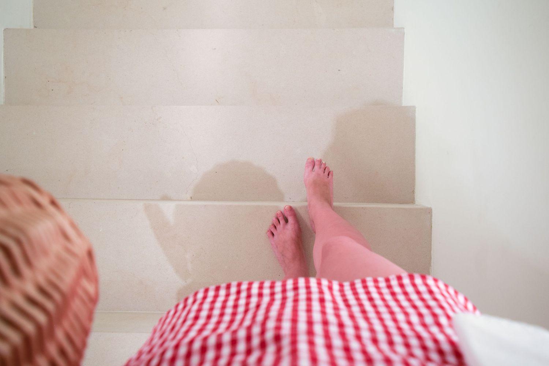 Bare Feet Inside The Fondation Carmignac, Ile De Porquerolles