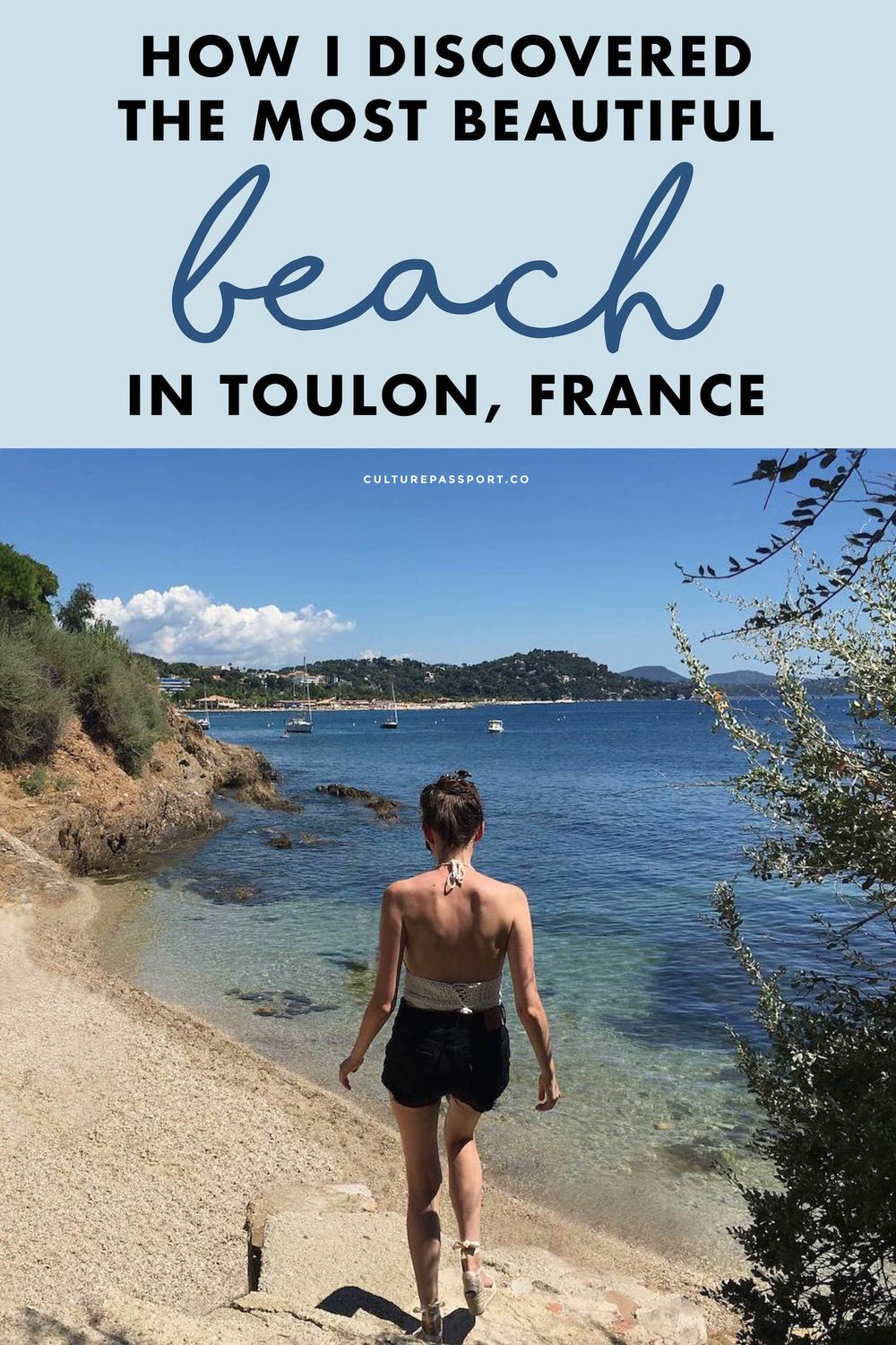 Beautiful Beach Toulon France