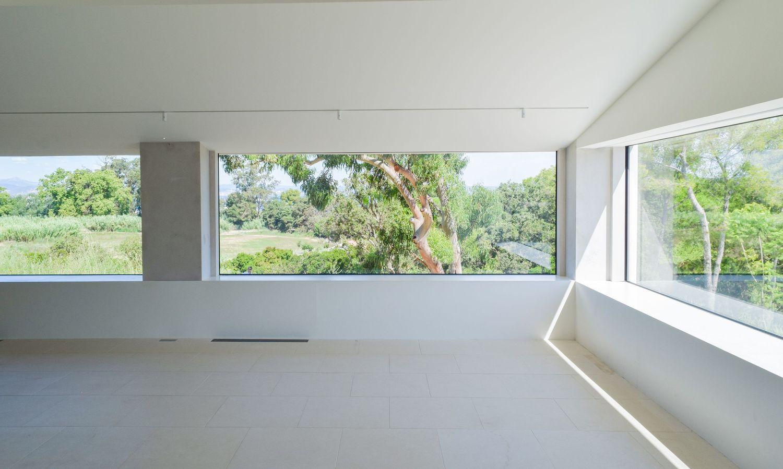 Beautiful Window View At The Fondation Carmignac, Ile De Porquerolles, France