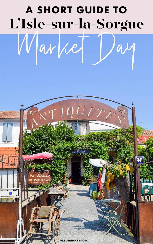 L'Isle Sur La Sorgue Market Day Tips