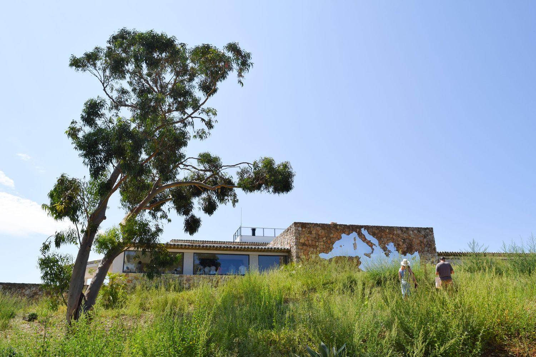 Looking Back At The Villa Fondation Carmignac, Ile De Porquerolles, France