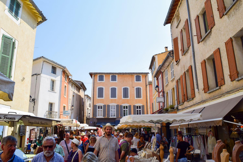 Market Street in L'Isle Sur La Sorgue